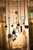 USA, Oregon, Ashland, detail of necklaces at a store called Papaya Living
