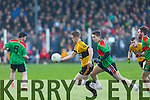 In Action  Emmets Cormac Mulvihill and Beale's Andy O'Connell Padraig Murphy at  the Bernard O'Callaghan Memorial Senior Football Championship final last Saturday Beale V Listowel Emmets