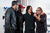 "Jeffrey Dean Morgan, Andrew Lincoln, Norman Reedus and director of the series, Greg Nicotero attends to an event with fans of ""The Walking Dead"" at Cines Capitol in Madrid. March 09, 2017. (ALTERPHOTOS/Borja B.Hojas) /NortePhoto.com"