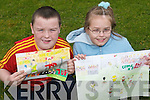 Competing: At the Community Games Art competition on Saturday morning at Listowel Convent were Patrick Daly, Killorglin, and Niamh Holly, Ballybunion..