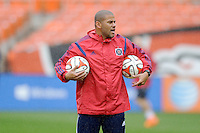 Washington, D.C.- March 29, 2014. CJ Brown Chicago Fire Assistant Coach. The Chicago Fire tied D.C. United 2-2 during a Major League Soccer Match for the 2014 season at RFK Stadium.