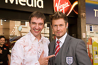 Spike meets 'David Beckham' who opened the new Mansfield Virgin Media store