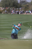 February 2nd 2019, Scottsdale, Arizona, USA;Bubba Watson hits out of the sand trap on the ninth hole during the third round of the Waste Management Phoenix Open on February 02, 2019, at TPC Scottsdale in Scottsdale, AZ.