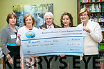 At the Official open day and launch of website and brochure at Recovery Haven on Friday a cheque for €2241.10 was present by Noel and Sheila Hartnett, proceeds of the annual fundraising dance at Earl of Desmond Hotel. Pictured l-r