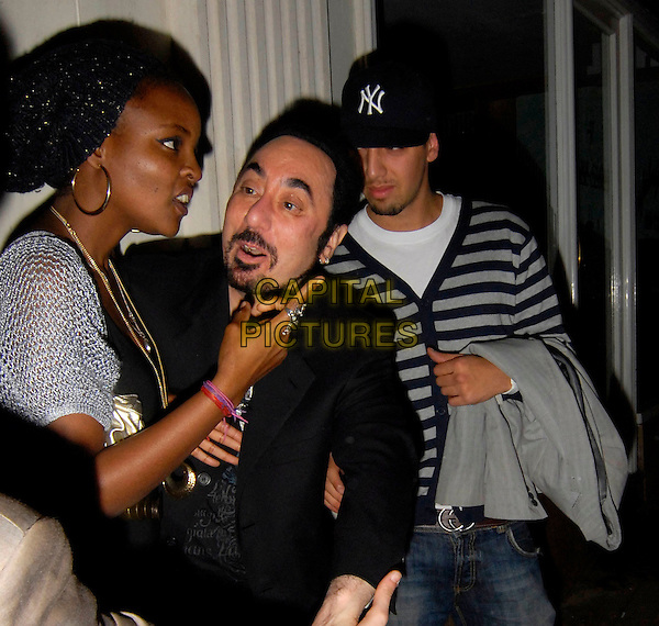 GUEST & DAVID GEST.Outside The Wellington Club, London, England,.November 5th 2007..half length funny.CAP/SW.©Capital Pictures.