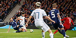 06.09.2019 Scotland v Russia, European Championship 2020 qualifying round, Hampden Park:<br /> Stephen O'Donnell scores an own goal as he tries to close down Yuri Zhirkov for Russia's second goal