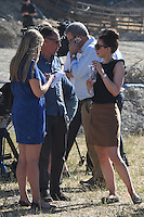 "FAO JANET TOMLINSON, DAILY MAIL <br /> Pictured: Members of the press at the field where the search is taking place in Kos, Greece. Friday 30 September 2016<br /> Re: Police teams searching for missing toddler Ben Needham on the Greek island of Kos have said they are ""optimistic"" about new excavation work.<br /> Ben, from Sheffield, was 21 months old when he disappeared on 24 July 1991 during a family holiday.<br /> Digging has begun at a new site after a fresh line of inquiry suggested he could have been crushed by a digger.<br /> South Yorkshire Police (SYP) said it continued to keep an ""open mind"" about what happened to Ben."