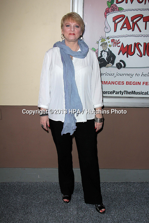 "LOS ANGELES - MAR 3:  Alison Arngrim arrives at the ""Divorce Party The Musical"" Opening Night at the El Portal Theater on March 3, 2013 in North Hollywood, CA"