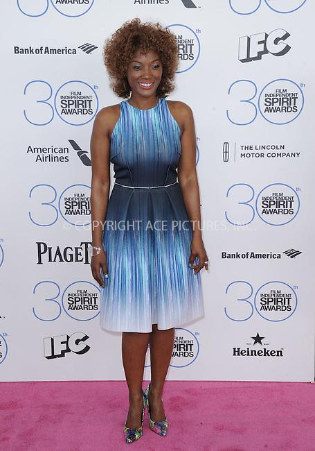 WWW.ACEPIXS.COM<br /> <br /> February 21 2015, LA<br /> <br /> Yolonda Ross arriving at the 2015 Film Independent Spirit Awards at Santa Monica Beach on February 21, 2015 in Santa Monica, California.<br /> <br /> By Line: Peter West/ACE Pictures<br /> <br /> <br /> ACE Pictures, Inc.<br /> tel: 646 769 0430<br /> Email: info@acepixs.com<br /> www.acepixs.com