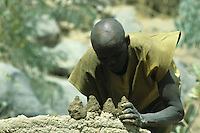 "The priest blacksmith uses the mortar to make six ""cones""  and places them on the shild in top of the furnace. The cones personify the ancestors. He will mix some dry  herbs in one of the central ones – thus, Dzikile, the supreme spirit of Mafa, is represented"