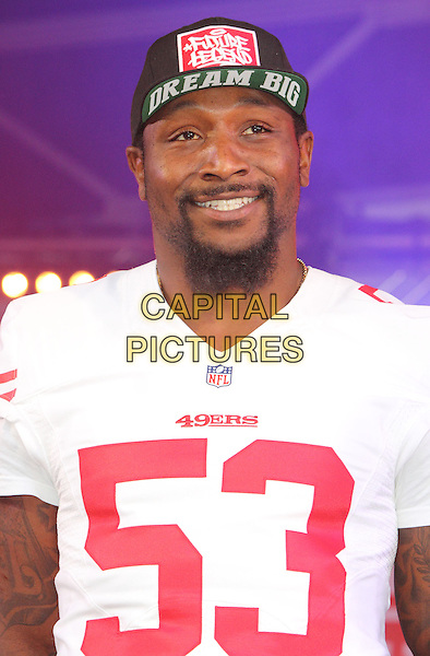 LONDON, ENGLAND - OCTOBER 26 2013: NaVorro Bowman at the NFL Fan Rally - the day before the Jacksonville Jaguars take on San Francisco 49ers at Wembley Stadium - in Trafalgar Square on October 26, 2013 in London, England, UK.<br /> CAP/JIL<br /> &copy;Jill Mayhew/Capital Pictures