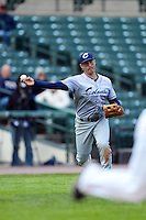Columbus Clippers third baseman Ryan Rohlinger #2 throws to first during a game against the Rochester Red Wings on May 12, 2013 at Frontier Field in Rochester, New York.  Rochester defeated Columbus 5-4.  (Mike Janes/Four Seam Images)