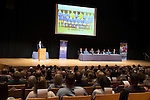 St Johnstone FC Youth Academy Presentation Night at Perth Concert Hall..21.04.14<br /> Compare Pete Loudon adresses the audience<br /> Picture by Graeme Hart.<br /> Copyright Perthshire Picture Agency<br /> Tel: 01738 623350  Mobile: 07990 594431