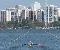 Rio de Janeiro. BRAZIL.   USA W2X, <br /> BOW Meghan O'LEARY AND Ellen<br /> TOMEK,  2016 Olympic Rowing Regatta. Lagoa Stadium,<br /> Copacabana,  &ldquo;Olympic Summer Games&rdquo;<br /> Rodrigo de Freitas Lagoon, Lagoa. Local Time 11:30:03   Saturday  06/08/2016 <br /> <br /> [Mandatory Credit; Peter SPURRIER/Intersport Images]