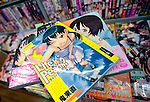 Extreme manga comics with themes such as child sex are lined on the shelves of a store in Tokyo Japan on 18 Feb 2010.