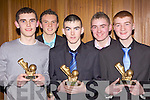 Feal Rangers club members at the Moyvane Coiste na nOg Awards held in The Lantern's Hotel, Tarbert last Friday night, l-r: Con Mulvihill, Brendan Galvin, Edmund Sweeney, Shane Stack and Timmy Noonan.