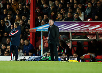 4th January 2020; Griffin Park, London, England; English FA Cup Football, Brentford FC versus Stoke City; Stoke City Manager Michael O'Neill giving instructions to his players from the touchline  - Strictly Editorial Use Only. No use with unauthorized audio, video, data, fixture lists, club/league logos or 'live' services. Online in-match use limited to 120 images, no video emulation. No use in betting, games or single club/league/player publications