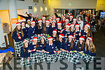 Students from Presentation Secondary School,Tralee who helped out the ITT Tralee in setting the Guinness Work Record by pulling Christmas Crackers on Tuesday.