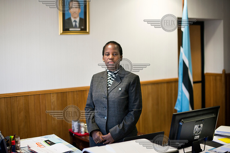 Unity Dow, the Minister of Education and Skills Development.