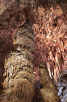 Column, Speleothem in Big Room, Carlsbad Caverns National Park, New Mexico