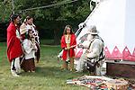 blanket Native American Indian family trading moutainman tipi Lakota Sioux Indians united states trade business meet meeting greet mother mom mum ma child children kids male man female woman red coats Greifenhagen 468-2265 MR 387i 388u n 390i through 395u n 402i 4303u