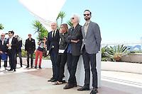CARTER LOGAN, IGGY POP, JIM JARMUSCH, FERNANDO SULICHIN - PHOTOCALL DU FILM 'GIMME DANGER' - 69EME FESTIVAL DE CANNES