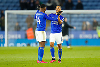 4th March 2020; King Power Stadium, Leicester, Midlands, England; English FA Cup Football, Leicester City versus Birmingham City; Kelechi Iheanacho of Leicester City congratulates Youri Tielemans after the final whistle