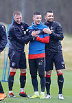 13.04.2018 Rangers training:<br /> Ross McCrorie, Michael O'Halloran and Russell Martin