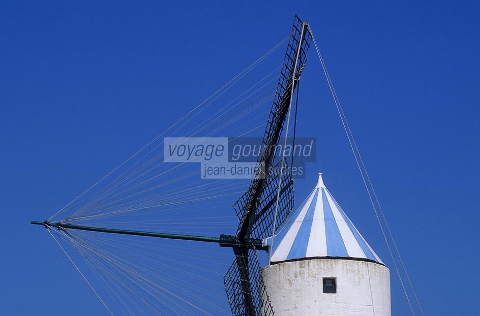 Europe/Espagne/Baléares/Minorque/Sant Lluis : Le moulin à vent