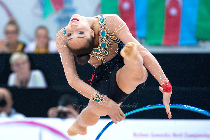 September 8, 2015 - Stuttgart, Germany - SALOME PAZHAVA of Georgia performs during AA qualifications at 2015 World Championships.