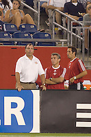 Red Bulls head coach Bruce Arena looks on. New England Revolution defeated the New York Red Bulls, 2-1,  at Gillette Stadium, Foxborough, MA on August 25, 2007.