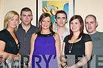 RINGING: Amy Liston, Chris Flahive, Sandra Flahive, Jonathan Gaffney, Lisa Maybury and Keith Moriarty, Abbeyfeale, ringing in the New Year in Murphy's Bar, Killarney.   Copyright Kerry's Eye 2008