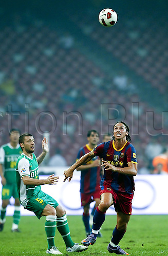 Aug 08, 2010; Beijing, CHINA; FC Barcelona of Spain defeats Beijing Guoan of China in a friendly match at the National Stadium, also known as the Bird's Nest. FC Barcelona is in China as a part of their pre-season tour. Zlatan Ibrahimovic.