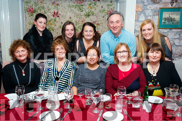 CBS, Tralee staff enjoying a night out in Cassidy's restaurant, Tralee on Friday night last were l-r: Ann Moore, Marie O'Connell, Ger O'Shea and Trish Horan, Maire Shine. Back l-r: Aoife O'Hanlon, Caitriona Kelliher, Ger Sheehy, Garry Cavanagh and Sheila Enright.
