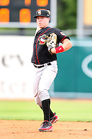 May 15, 2010: Jason Stidham (7) of the Quad City River Bandits at Elfstrom Stadium in Geneva, IL. The River Bandits are the Class A affiliate of the St. Louis Cardinals. Photo by: Chris Proctor/Four Seam Images