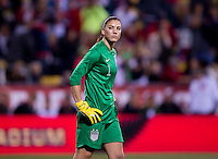Hope Solo. The USWNT tied New Zealand, 1-1, at an international friendly at Crew Stadium in Columbus, OH.