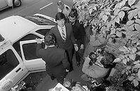 Pix: Copyright Anglia Press Agency/Archived via SWpix.com. The Bamber Killings. August 1985. Murders of Neville and June Bamber, daughter Sheila Caffell and her twin boys. Jeremy Bamber convicted of killings serving life...copyright photograph>>Anglia Press Agency>>07811 267 706>>..Jeremy Bamber arrives at court. no date..ref 0002 neg 24...