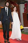 Nerea Barros and her Boyfriend Juan Ibanez attends the Feroz Cinema Awards 2015 at Las Ventas, Madrid,  Spain. January 25, 2015.(ALTERPHOTOS/)Carlos Dafonte)