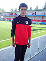 "Collect pic of Josuha Rae, who is 6' 1"" despite only being 12 years old, at Atletico de Madrid's school of football."