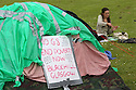 Anti G8 protesters pitch camp in Enniskillen, Northern Ireland ahead of the G8 Summit, Sunday June 16, 2013. Leaders from Canada, France, Germany, Italy, Japan, Russia, USA and UK are meeting at Lough Erne in Northern Ireland for the G8 Summit 17-18 June. Photo/Paul McErlane