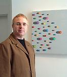 Niall McCormack, Westport Artist, Pictured at the Custom House Studios, Westport..Pic Conor McKeown