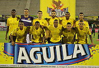BARRANCABERMEJA- COLOMBIA - 19-08-2016: Los jugadores de Alianza Petrolera posan para una foto, durante partido Alianza Petrolera y La Equidad, por la fecha 9 por la Liga Aguila II 2016 en el estadio Daniel Villa Zapata en la ciudad de Barrancabermeja. / The players of Alianza Petrolera pose for a photo, during a match between Alianza Petrolera and La Equidad, for date 9 of the Liga Aguila II 2016 at the Daniel Villa Zapata stadium in Barrancabermeja city. Photo: VizzorImage  / Jose D Martinez / Cont.