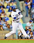 22 July 2011: Los Angeles Dodgers infielder Juan Uribe in action against the Washington Nationals at Dodger Stadium in Los Angeles, California. The Nationals defeated the Dodgers 7-2 in their first meeting of the 2011 season. Mandatory Credit: Ed Wolfstein Photo