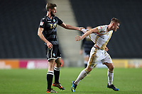 Fiacre Kelleher of Macclesfield Town and Rhys Healey of MK Dons during MK Dons vs Macclesfield Town, Sky Bet EFL League 2 Football at stadium:mk on 17th November 2018