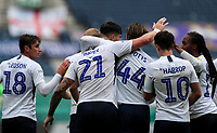 Preston North End's Patrick Bauer celebrates scoring the opening goal with teammates<br /> <br /> Photographer Alex Dodd/CameraSport<br /> <br /> The EFL Sky Bet Championship - Leeds United v Barnsley - Thursday 16th July 2020 - Elland Road - Leeds<br /> <br /> World Copyright © 2020 CameraSport. All rights reserved. 43 Linden Ave. Countesthorpe. Leicester. England. LE8 5PG - Tel: +44 (0) 116 277 4147 - admin@camerasport.com - www.camerasport.com<br /> <br /> Photographer Alex Dodd/CameraSport<br /> <br /> The EFL Sky Bet Championship - Preston North End v Birmingham City - Saturday 18th July 2020 - Deepdale Stadium - Preston<br /> <br /> World Copyright © 2020 CameraSport. All rights reserved. 43 Linden Ave. Countesthorpe. Leicester. England. LE8 5PG - Tel: +44 (0) 116 277 4147 - admin@camerasport.com - www.camerasport.com