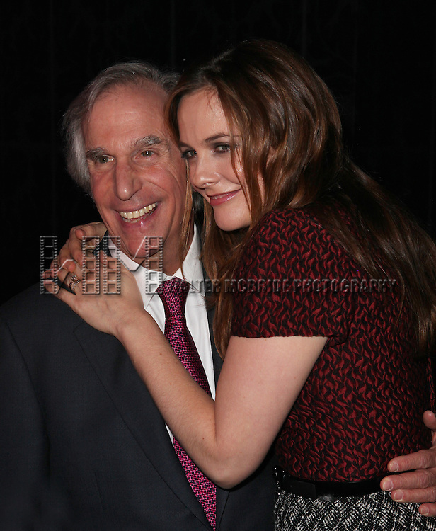 Henry Winkler & Alicia Silverstone attending the Broadway Opening Night Performance After Party for 'The Performers' at E-Space in New York City on 11/14/2012