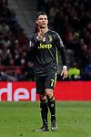 Juventus' Cristiano Ronaldo during UEFA Champions League match, Round of 16, 1st leg between Atletico de Madrid and Juventus at Wanda Metropolitano Stadium in Madrid, Spain. February 20, 2019. (ALTERPHOTOS/A. Perez Meca)