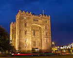 County Clare, Ireland<br /> Bunratty Castle, night view. Bunratty Folk Park