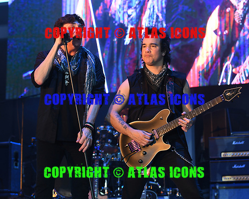 MIRAMAR FL - NOVEMBER 10: Eric Martin and Steve Brown of The Eric Martin Band perform during Rock Fest 80s at the Miramar Regional Park Ampitheatre on November 10, 2018 in Miramar, Florida. Photo by Larry Marano © 2018
