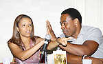 Passions Chrystee Pharris and Lamman Rucker (AMC and ATWT) in a workshop at The National Black Theatre Festival with a week of plays, workshops and much more with an opening night gala of dinner, awards presentation followed by Black Stars of the Great White Way followed by a celebrity reception. It is an International Celebration and Reunion of Spirit. (Photo by Sue Coflin/Max Photos)